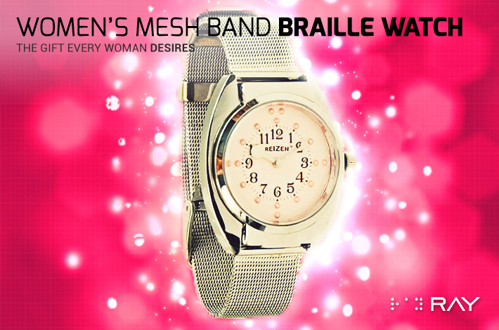 Gifts-8-Womans-Mesh-Band-Braille-Watch