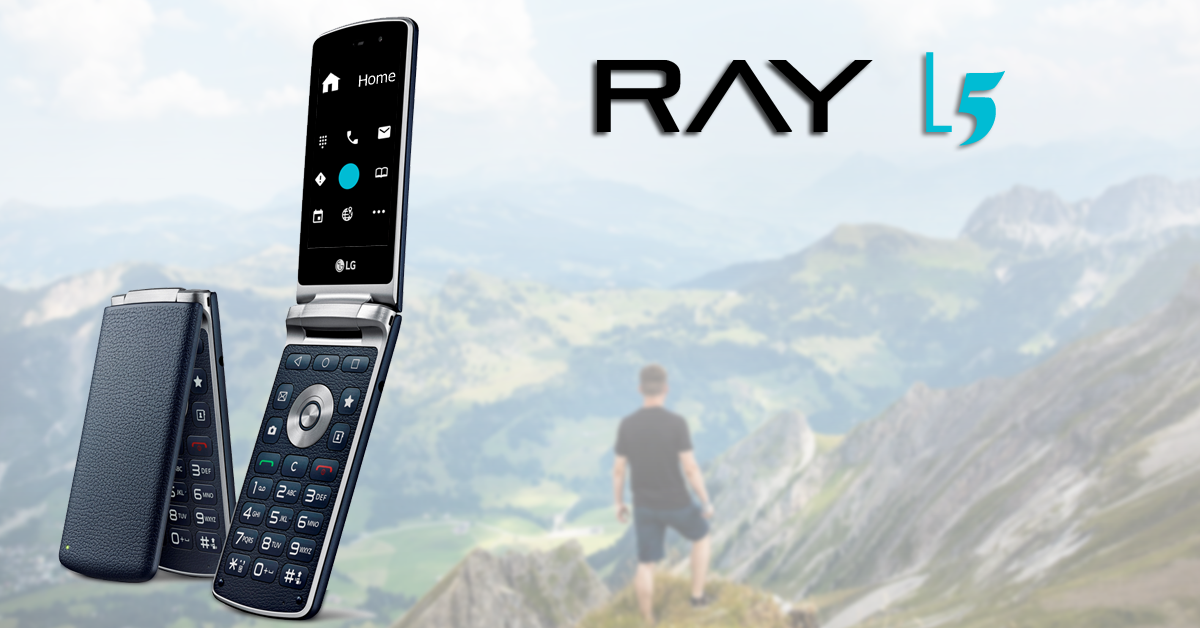 RAY L5 - World's smartest flip phone for blind and visually impaired